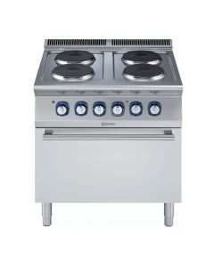 Electrolux Professional, fornuis 4 ronde kookpl, oven, 700XP